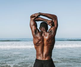 Athlete Strong Back Muscles
